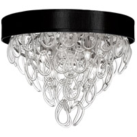 DainoliteCristello 4 Light Flush Mount in Polished Chrome with Clear Glass Crystals CRS-174FH-BK