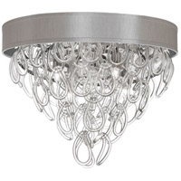 DainoliteCristello 4 Light Flush Mount in Polished Chrome with Clear Glass Crystals CRS-174FH-PEB