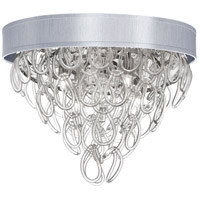 DainoliteCristello 4 Light Flush Mount in Polished Chrome with Clear Glass Crystals CRS-174FH-SV