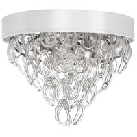 DainoliteCristello 4 Light Flush Mount in Polished Chrome with Clear Glass Crystals CRS-174FH-WH
