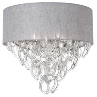 Cristello 4 Light 17 inch Polished Chrome Flush Mount Ceiling Light