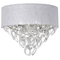 Cristallo 4 Light 18 inch Polished Chrome Flush Mount Ceiling Light