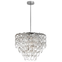 DainoliteCristello 6 Light Chandelier in Polished Chrome with Clear Glass Crystals CRS-186C-PC