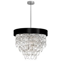 DainoliteCristello 6 Light Chandelier in Polished Chrome with Clear Glass Crystals CRS-236C-BK