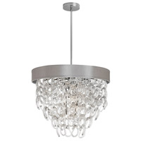DainoliteCristello 6 Light Chandelier in Polished Chrome with Clear Glass Crystals CRS-236C-PEB
