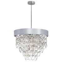 DainoliteCristello 6 Light Chandelier in Polished Chrome with Clear Glass Crystals CRS-236C-SV