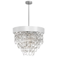 DainoliteCristello 6 Light Chandelier in Polished Chrome with Clear Glass Crystals CRS-236C-WH