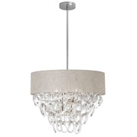 Dainolite Cristello 6 Light Chandelier in Polished Chrome with Clear Glass with Crystals CRS-246C-CRM