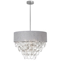 Dainolite Cristello 6 Light Chandelier in Polished Chrome with Clear Glass with Crystals CRS-246C-GRY