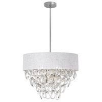 Cristallo 6 Light 23 inch Polished Chrome Chandelier Ceiling Light
