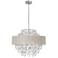 Dainolite Cristello 12 Light Chandelier in Polished Chrome with Clear Glass with Crystals CRS-2512C-CRM