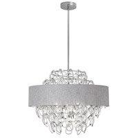 Dainolite Cristello 12 Light Chandelier in Polished Chrome with Clear Glass with Crystals CRS-2512C-GRY