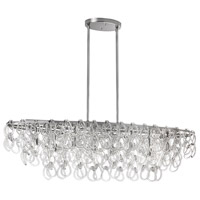 DainoliteCristello 8 Light Chandelier in Polished Chrome with Clear Glass Crystals CRS-378HC-PC