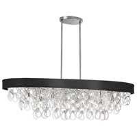 DainoliteCristello 8 Light Chandelier in Polished Chrome with Clear Glass Crystals CRS-428HC-BK