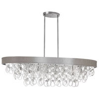 DainoliteCristello 8 Light Chandelier in Polished Chrome with Clear Glass Crystals CRS-428HC-PEB