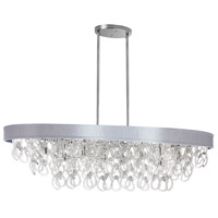 DainoliteCristello 8 Light Chandelier in Polished Chrome with Clear Glass Crystals CRS-428HC-SV