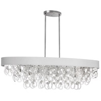 DainoliteCristello 8 Light Chandelier in Polished Chrome with Clear Glass Crystals CRS-428HC-WH