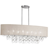 Dainolite Cristello 8 Light Chandelier in Polished Chrome with Clear Glass with Crystals CRS-448HC-CRM
