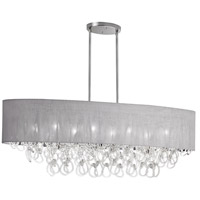 Dainolite Cristello 8 Light Chandelier in Polished Chrome with Clear Glass with Crystals CRS-448HC-GRY