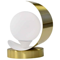 Dainolite CRT-61T-AGB-MW Crescent 7 inch 25 watt Aged Brass and Matte White Table Lamp Portable Light