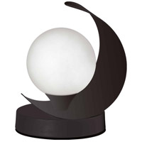 Dainolite CRT-61T-MB Crescent 7 inch 25 watt Matte Black Table Lamp Portable Light