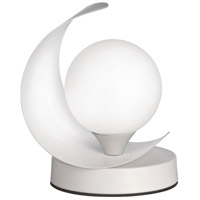 Dainolite CRT-61T-MW Crescent 7 inch 25 watt Matte White Table Lamp Portable Light