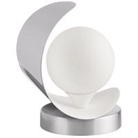 Dainolite CRT-61T-SC-MW Crescent 7 inch 25 watt Satin Chrome and Matte White Table Lamp Portable Light