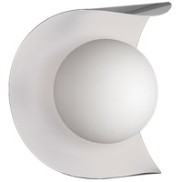 Dainolite CRT-61W-SC-MW Crescent 1 Light 6 inch Satin Chrome and Matte White Wall Sconce Wall Light
