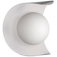 Dainolite CRT-61W-SC-MW Crescent 1 Light 6 inch Satin Chrome and Matte White Wall Sconce Wall Light