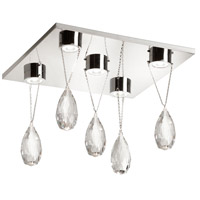 Crystal Line LED 12 inch Polished Chrome Flush Mount Ceiling Light