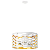 Cutouts 4 Light 22 inch White and Gold Pendant Ceiling Light