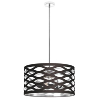 Cutouts 4 Light 22 inch Black and Silver Pendant Ceiling Light