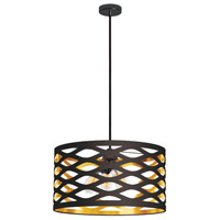 Cutouts 4 Light 22 inch Black and Gold Pendant Ceiling Light