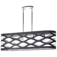Cutouts 4 Light 33 inch Black and Silver Pendant Ceiling Light