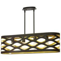 Dainolite CUT-334HP-698 Cutouts 4 Light 33 inch Black and Gold Pendant Ceiling Light