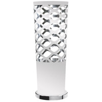 Dainolite Cutouts 1 Light Table Lamp in White and Silver CUT-T-691