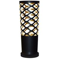 Dainolite Cutouts 1 Light Table Lamp in Black and Gold CUT-T-698