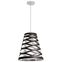 Dainolite Cutouts 1 Light Pendant in Black on Silver CUT14-697