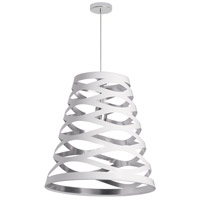 Cutouts 1 Light 11 inch White and Silver Pendant Ceiling Light