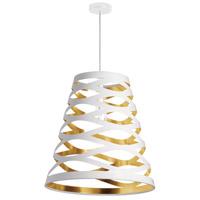 Dainolite CUT22-692 Cutouts 1 Light 22 inch White and Gold Pendant Ceiling Light