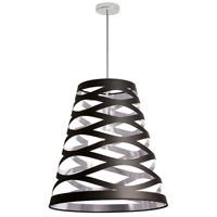Dainolite CUT22-697 Cutouts 1 Light Black on Silver Pendant Ceiling Light
