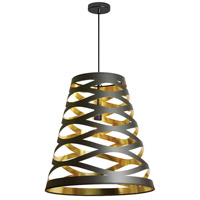 Cutouts 1 Light 11 inch Black and Gold Pendant Ceiling Light