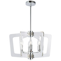 Dainolite CWR-206C-PC-CLR Clearwater 6 Light 20 inch Polished Chrome/Clear Chandelier Ceiling Light