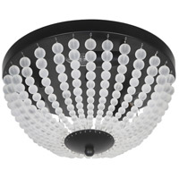 Dainolite DAW-143FH-MB-FR Dawson 3 Light 14 inch Matte Black Flush Mount Ceiling Light