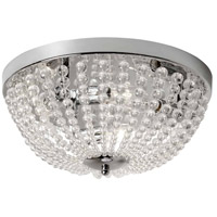 Dainolite DAW-143FH-PC-CLR Dawson 3 Light 14 inch Polished Chrome Flush Mount Ceiling Light