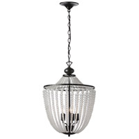 Dainolite DAW-175C-MB-FR Dawson 5 Light 17 inch Matte Black Chandelier Ceiling Light