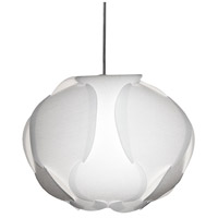 Dainolite Globus 1 Light Pendant in White DBC-M-790
