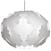 Dainolite DBF-L-790 Globus 3 Light 24 inch White Pendant Ceiling Light