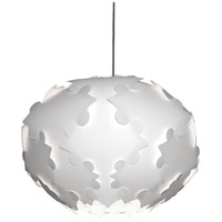 Globus 1 Light 18 inch White Pendant Ceiling Light