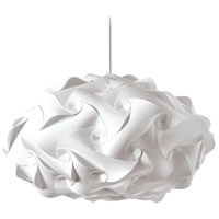 Dainolite DBL-FLT-790 Globus 3 Light 25 inch White Pendant Ceiling Light